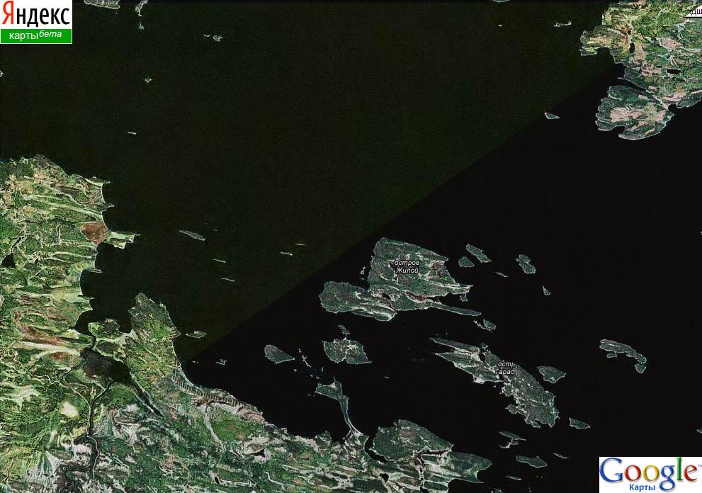 Качество спутниковых снимков на картах Яндекса и Гугла