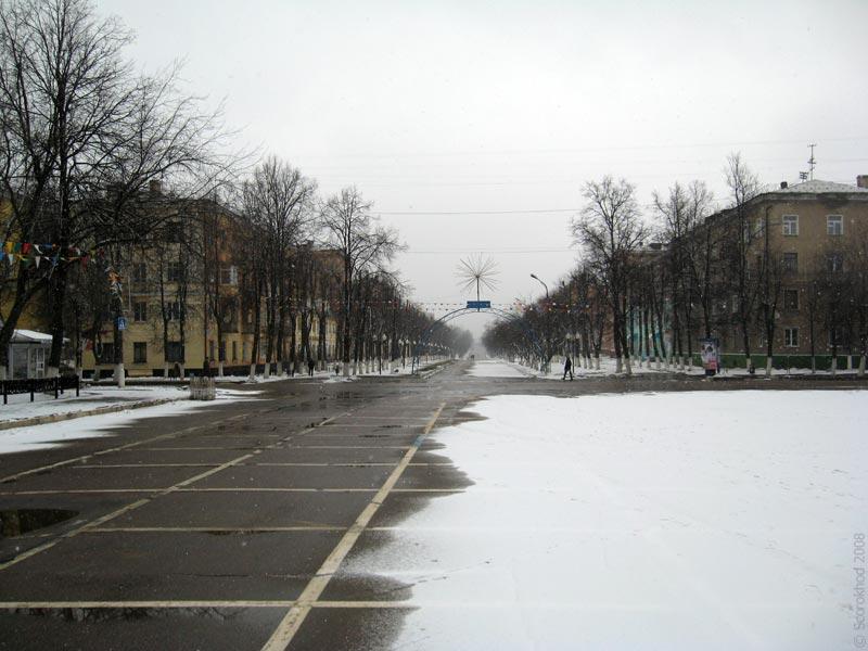 Площадь перед ДК «Металлург» в Ступино