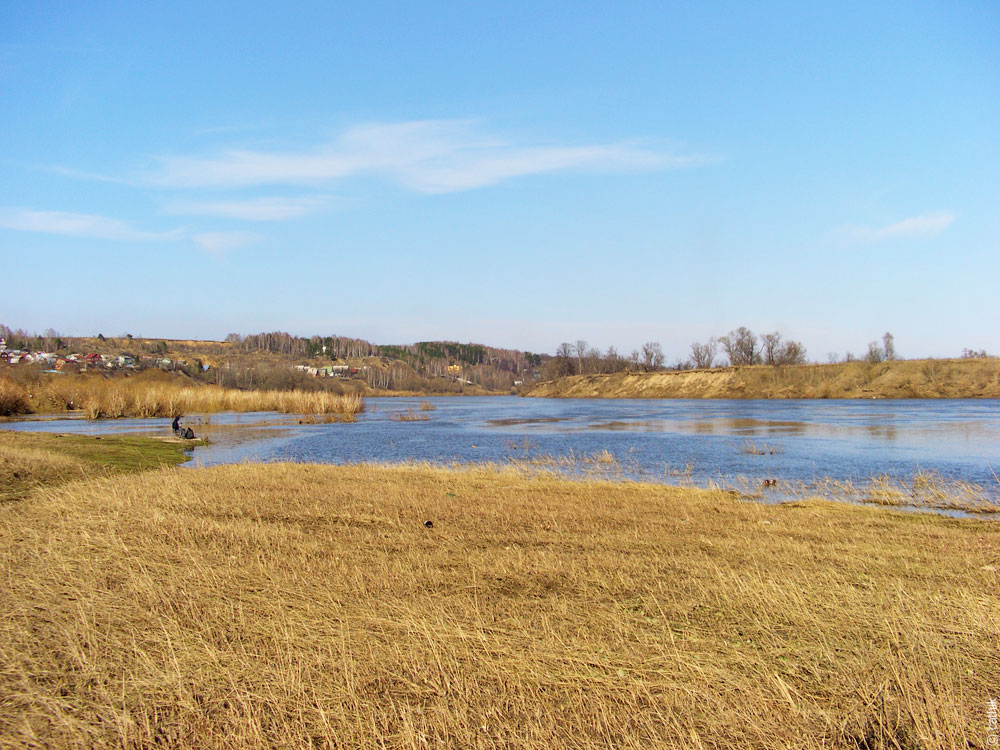 Место впадения Таруски в Оку