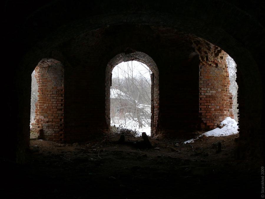 Церковь Вознесения Господня в селе Вознесенье Тарусского района. Первый этаж