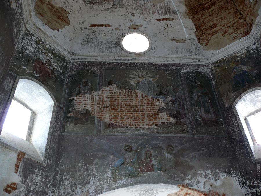 Церковь Вознесения Господня в селе Вознесенье Тарусского района. Второй этаж